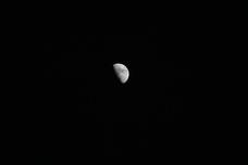 管理棟からの月