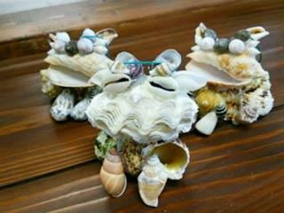 貝殻シーサー作り体験