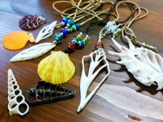 貝殻アクセサリー作り体験